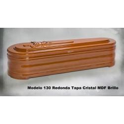 Modelo 130 Redonda Tapa Cristal MDF Brillo