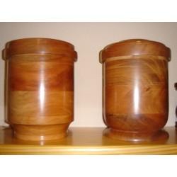 Urna madera redonda